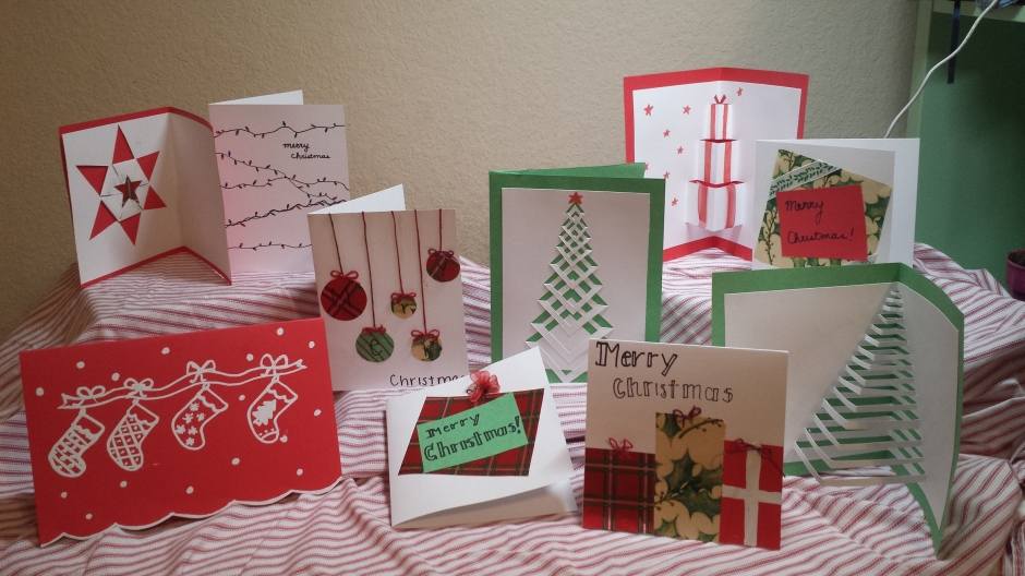 10 Quick and Easy DIY Christmas Cards! – Mellifluous Serendipities